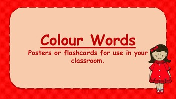 Colours display posters
