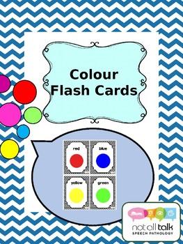 COLOURS COLORS FLASH CARDS