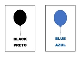Colours flashcards (Portuguese and English)