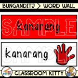 Colours Word Wall : Bunganditj