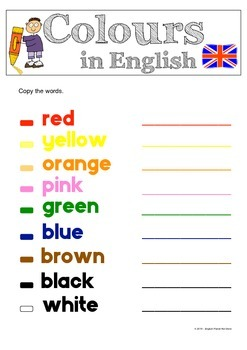 Colours in English (UK & US Spelling)