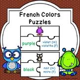 Colours in French Colors Game Puzzles FSL Activity Les Couleurs en Francais