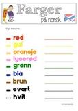Colours in Norwegian / Farger på norsk