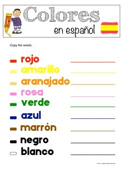 Colours in Spanish / Colores en español