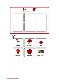Colours individual matching tasks