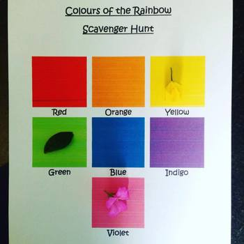 Colours of the Rainbow Scavenger Hunt