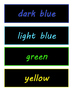 Colours word wall