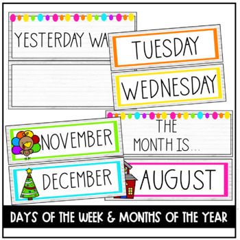 Colrful Farmhouse Morning Meeting Calendar