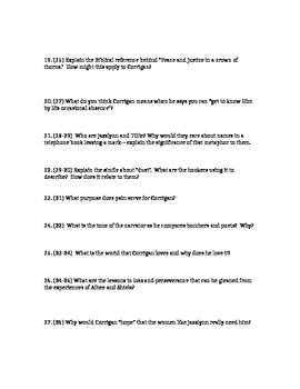 Colum McCann: Questions to accompany the reading pp. 11-37, answer key, voca
