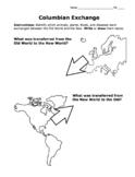 Columbian Exchange Activity / Draw & Identify Old World &