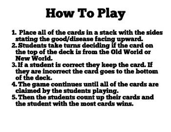 Columbian Exchange Card Game