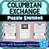 Columbian Exchange PUZZLE STATIONS: Triangular Trade | No Prep!