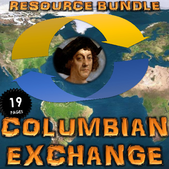Columbian Exchange - Jigsaw Reading Activity with Resource Bundle (5 Activities)