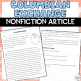 Columbian Exchange Old World, New World Nonfiction Article
