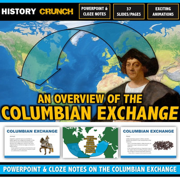 Columbian Exchange - PowerPoint with Cloze Notes (Plants, Animals, Diseases)