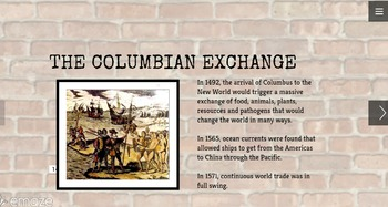 Columbian Exchange Presentation with Student Questions