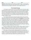 Columbian Exchange Reading