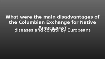 Columbian Exchange Review Game