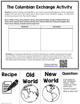 Columbian exchange worksheets pdf