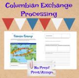 Columbian Exchange Worksheet