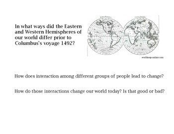 Columbian Exchange with Mini-Research