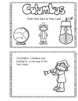 Christopher Columbus Day Printable Reader