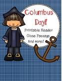 Christopher Columbus Day Printable Reader
