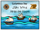 Columbus Sight Word Write the Room