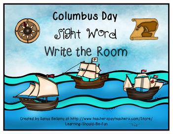 Columbus Sight Word Write the Room
