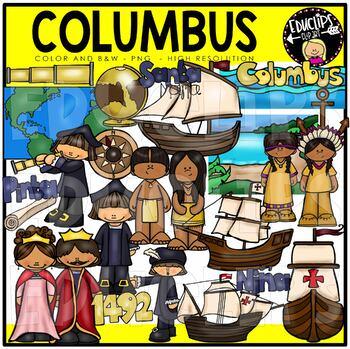 Columbus Clip Art Bundle {Educlips Clipart}