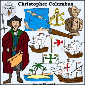 Columbus Clip Art by Dandy Doodles