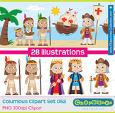 Columbus Clipart, The Discovery of America, Columbus day Set 052