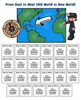 Columbus Columbian Exchange Activity