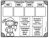 Columbus Comprehension and Timeline FREEBIE!