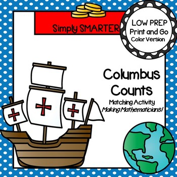 Columbus Counts:  LOW PREP Ten Frame Matching Activity