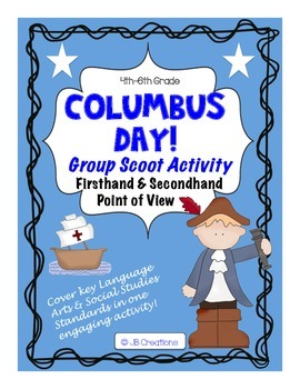 Columbus Day 1st & 2nd Hand Account Point of View Scoot Game (3rd, 4th, 5th)