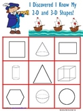 Columbus Day 2-D and 3-D shapes Bingo