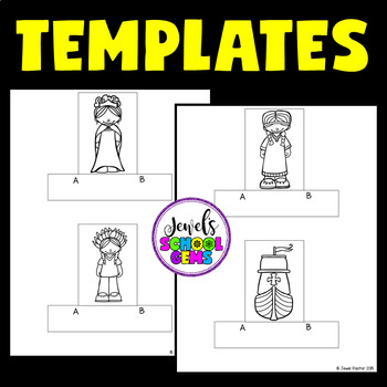 Christopher Columbus Day Crafts Activities (Finger Puppets)