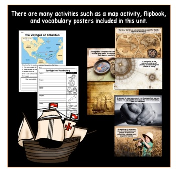 Christopher Columbus: Columbus Day Activities with Passages & Flip Book
