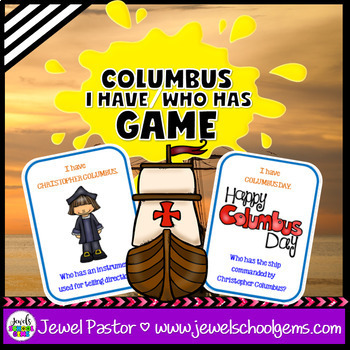 Christopher Columbus Day Activities (I Have Who Has Game)