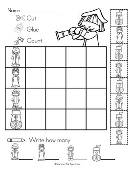 Columbus Day Graphing Worksheets * Christopher Columbus Bar and Picture Graphs