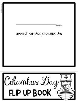 Columbus Day Flip Up Book