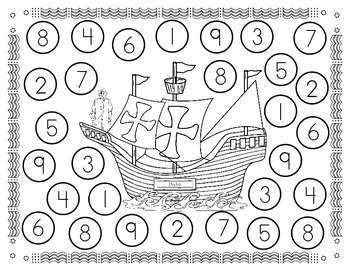 Columbus Day                   3 Spin and Color math Games