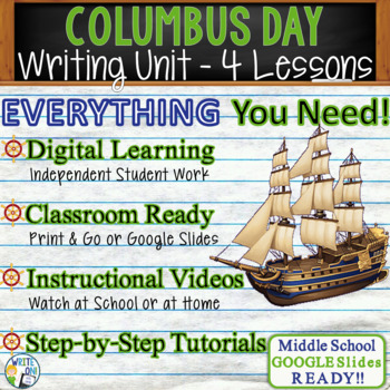 Columbus Day Writing BUNDLE! - Argumentative, Persuasive, Expository, Narrative