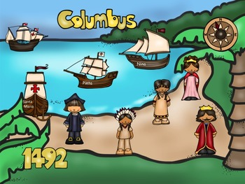 Columbus Day - A Game for Practicing Treble Clef Lines and Spaces