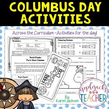 Columbus Day Activities - Across the Curriculum!