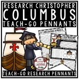 Christopher Columbus Activities Poster Teach- Go Pennants™ Columbus Day Writing