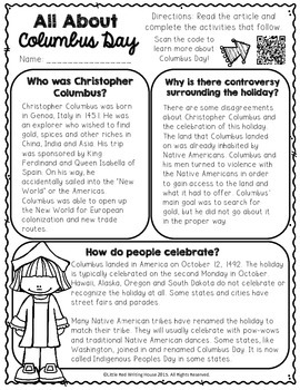 Columbus Day {Activities & Printables}