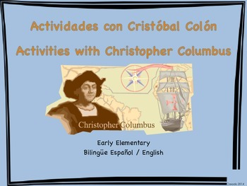 Columbus Day Activities Spanish and English versions bundle