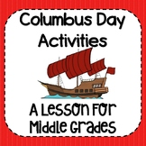 Columbus Day Activities (Christopher Columbus) for Middle Grades
